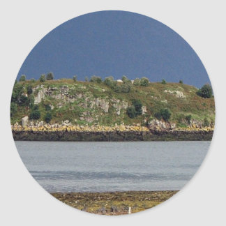 Scottish Highlands Classic Round Sticker