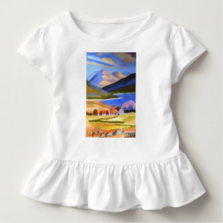 Scottish Highlands Toddler Ruffle Tee