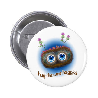 Scottish 'Hoots Toots Haggis' 2 Inch Round Button