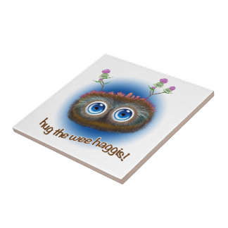 Scottish 'Hoots Toots Haggis' Ceramic Tile