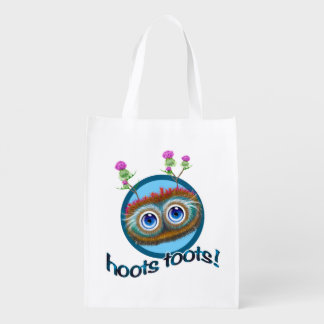Scottish Hoots Toots Haggis Reusable Grocery Bag