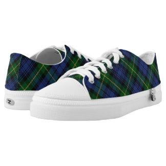 Scottish House of Gordon Clan Tartan Low-Top Sneakers
