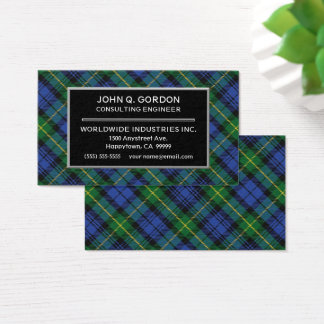 Scottish House of Gordon Clan Tartan Plaid Business Card