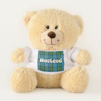 Scottish Hugs Clan MacLeod of Harris Tartan Plaid Teddy Bear