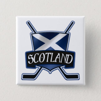 Scottish Ice Hockey Flag Logo Badge 2 Inch Square Button