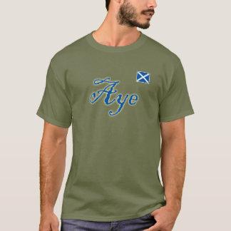 Scottish Independence Aye Scotland Flag Tee