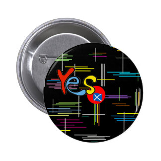 Scottish Independence Bright Lines Flag Badge 2 Inch Round Button