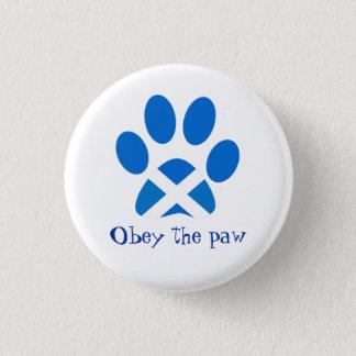 Scottish Independence Cat Paw Print Saltire Badge 1 Inch Round Button