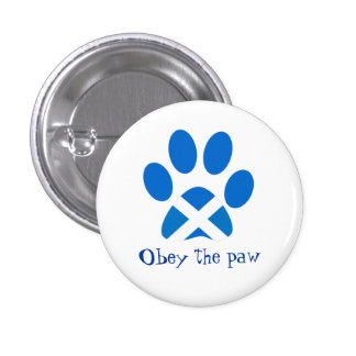 Scottish Independence Cat Paw Print Saltire Badge 1 Inch Round Button