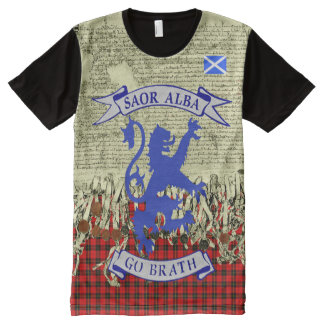 Scottish Independence Declaration of Arbroath Lion All-Over-Print T-Shirt