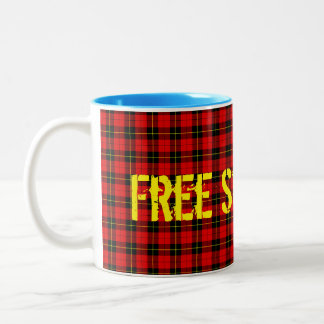 Scottish Independence Free Scotland Tartan Mug
