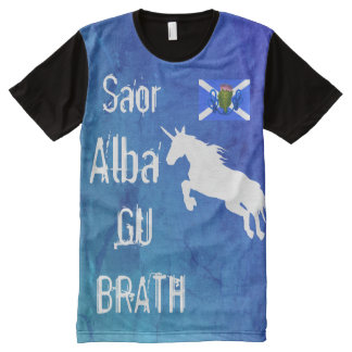 Scottish Independence Free Unicorn All-Over-Print T-Shirt