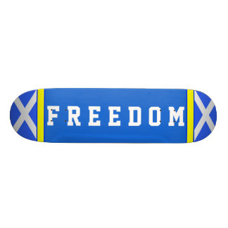 Scottish Independence Freedom Saltire Skateboard