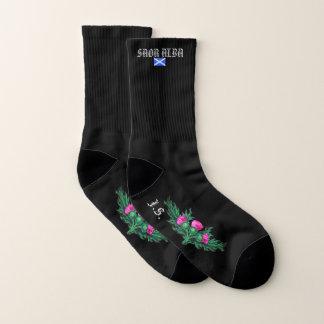 Scottish Independence Gaelic Thistle Flag Socks