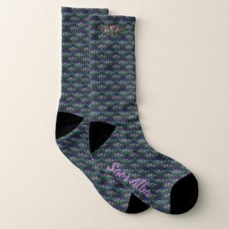 Scottish Independence Gaelic Thistle Pattern Socks