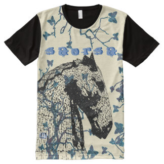 Scottish Independence Hawthorn Butterfly Horse All-Over-Print T-Shirt