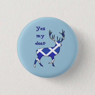 Scottish Independence Highland Stag Yes Badge 1 Inch Round Button