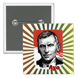 Scottish Independence John Maclean Aye Badge 2 Inch Square Button