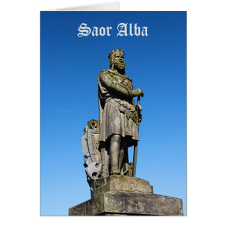 Scottish Independence Robert the Bruce Monument Card