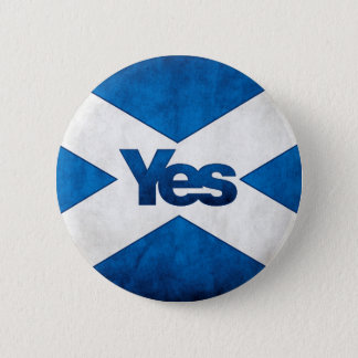 Scottish Independence - Saltire Yes Badge 2 Inch Round Button