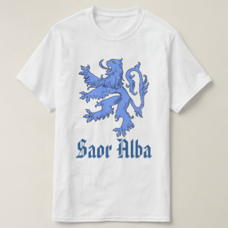 Scottish Independence Saor Alba Blue Lion T-Shirt