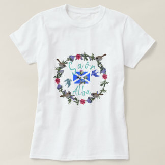 Scottish Independence Saor Alba Flowers and Birds T-Shirt