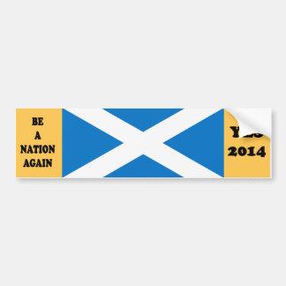 Scottish Independence Yes 2014 Bumper Sticker