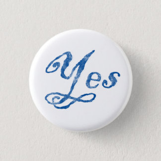 Scottish Independence Yes Badge 1 Inch Round Button