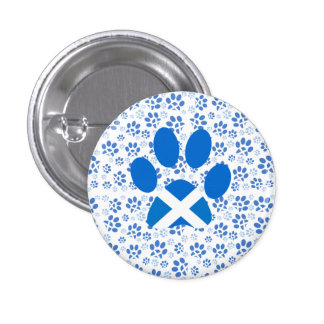 Scottish Independence Yes Cat Paw Print Badge 1 Inch Round Button