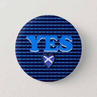 Scottish Independence Yes Heart Flag Badge 2 Inch Round Button