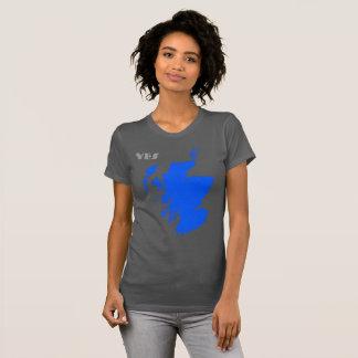 Scottish Independence Yes Scotland Map T-Shirt
