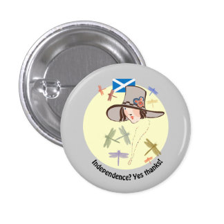 Scottish Independence Yes Thanks Dragonfly Girl Pins