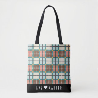 Scottish Inspired Fair Isle Tartan Tote Bag
