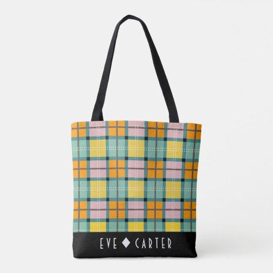 Scottish inspired Iona Tartan Tote Bag