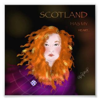 Scottish lassy print art photo