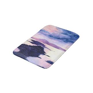 Scottish Loch Purple Watercolour Bathmat