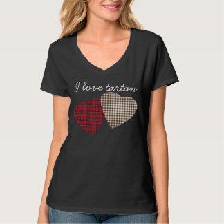 Scottish Love Tartan Heart T-Shirt
