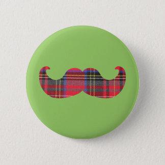 Scottish Mustache (or scottache moustache) 2 Inch Round Button