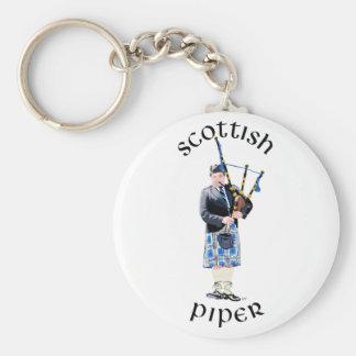 Scottish Piper - Blue Keychain