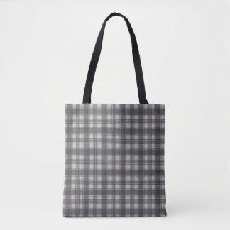 Scottish plaids grey tote bag