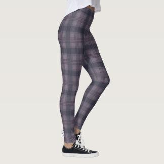 Scottish plaids purple leggings