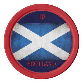 Scottish poker chip poker chip set