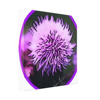 Scottish Purple Thistle Canvass Canvas Print