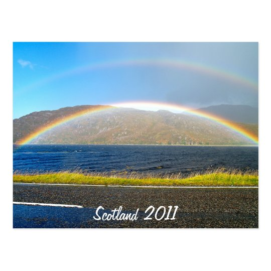 Scottish Rainbow Postcard
