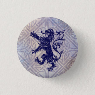 Scottish Rampant Lion Navy Blue Celtic Knot 1 Inch Round Button