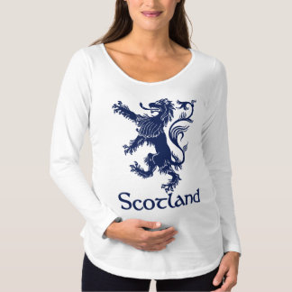 Scottish Rampant Lion Navy Blue Maternity T-Shirt