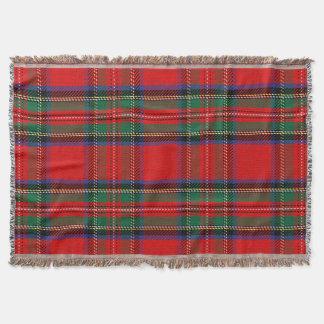 Scottish Red Clan Plaid Tartan Throw Blanket