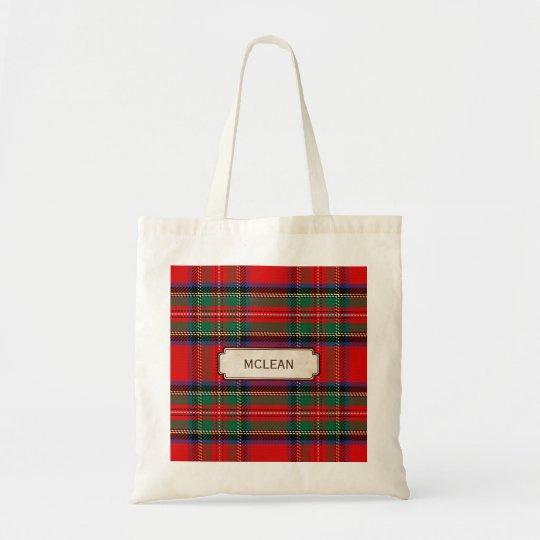 Scottish Red Clan Plaid Tartan Tote Bag
