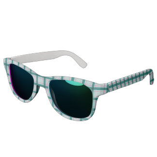Scottish Red Green White Tartan Sunglasses