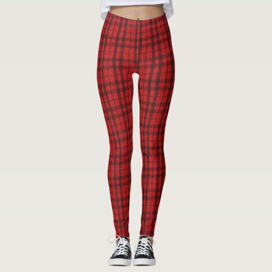 Scottish Red Plaid Leggings
